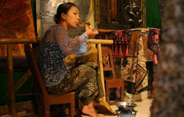 Batik woven textile