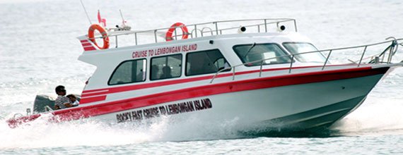 Rocky fast boat transfer to Nusa Lembongan